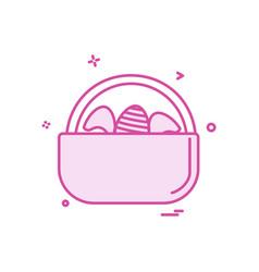 egg easter eggbasket icon design vector image