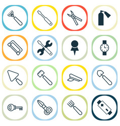 Equipment icons set collection of password vector