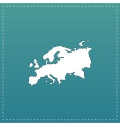 Eurasia map flat icon vector image