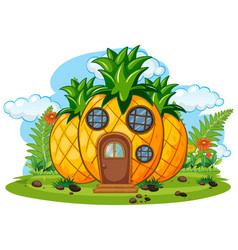 Fantasy fruit house isolated vector