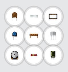 Flat icon electronics set of bobbin memory vector