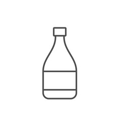 glass bottle line outline icon vector image