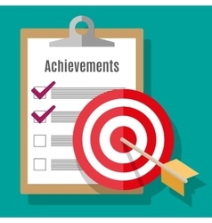 Goal achievement concept in flat style vector