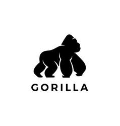 gorilla logo icon vector image