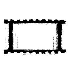 grunge filmstripe vector image