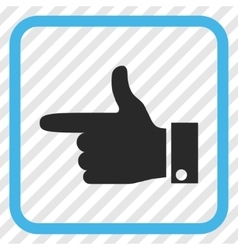Hand Pointer Left Icon In a Frame vector