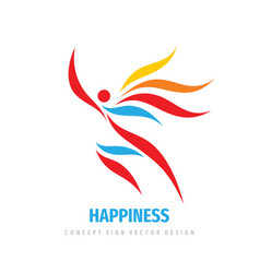Happiness people business logo design human vector