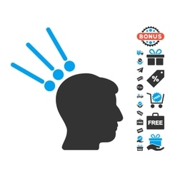 Head test connectors icon with free bonus vector
