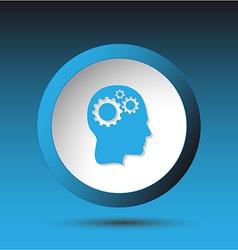 Human brain Plastic button vector image