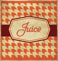 Juice Label Design vector