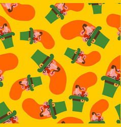 Leprechaun pattern seamless happy st patricks day vector