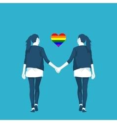 LGBT community lesbian vector image