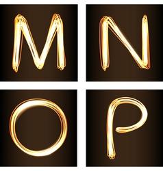 M N O P vector