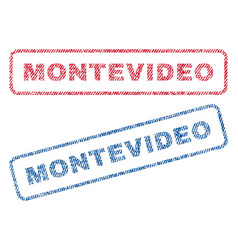 Montevideo textile stamps vector