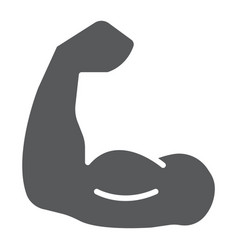 muscle glyph icon bodybuilding and sport power vector image