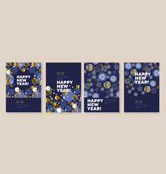 new year and christmas posters collection vector image