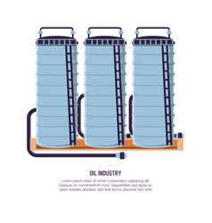 oil industry with pipeline structure vector image