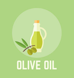 olive oil in glass bottle vector image