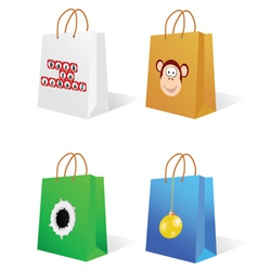 Paper bag with an on it vector