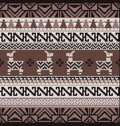 Peruvian inca style knitting pattern vector