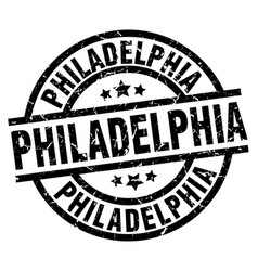Philadelphia black round grunge stamp vector