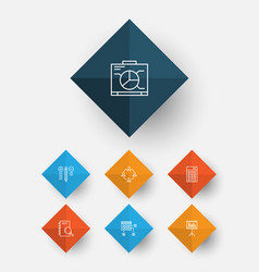 project icons set collection of decision making vector image