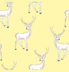 Reindeer seamless pattern vector
