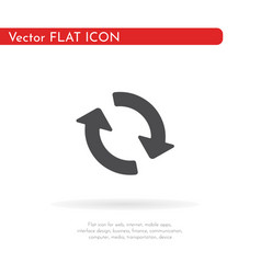 Repetition icon for web business finance and vector