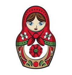 Russian dolls drawing vector