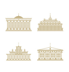 set of government building vector image
