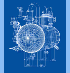 Sketch industrial equipment vector