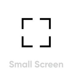 Small screen video tv icon editable line vector