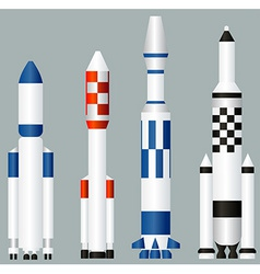 Space rockets vector image