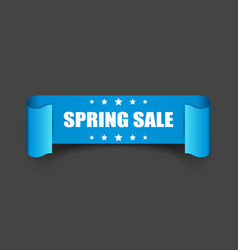 Spring sale ribbon icon discount sticker label on vector