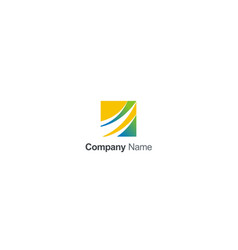 square loop colored business logo vector image