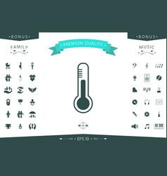 Thermometer icon symbol vector