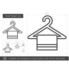 Towel hanger line icon vector