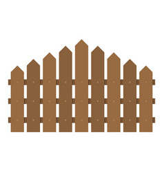triangular fence icon flat style vector image