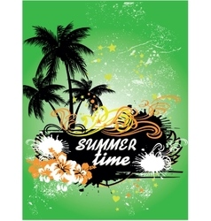 Tropical background summer time vector image