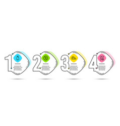 Truck parking bell and no parking icons balloon vector
