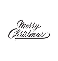 unique lettering merry christmas for your projects vector image