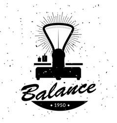 vintage emblem of retro balance vector image