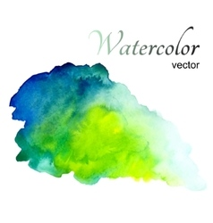 Watercolor stain on white background vector image