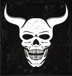White Devil Skulls vector image