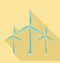 Wind turbine generator icon flat style vector