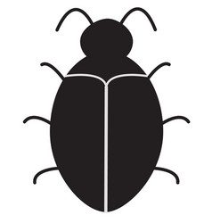 bug software bug icon on white background vector image vector image
