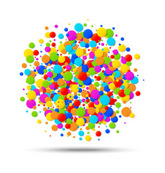 Colorful circle birthday confetti background vector