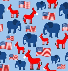 Elephant and Donkey seamless pattern Texture for vector image