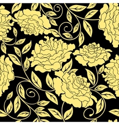 Floral seamless in abstract style vector