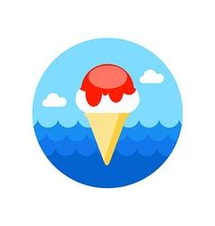 Ice Cream icon Summer Vacation vector image vector image
